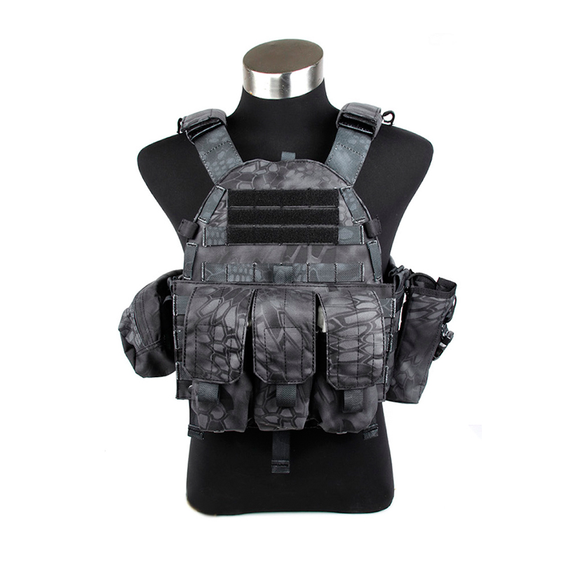 2017 Tactical Typhon Vest 6094 style Plate Carrier w 3 pouches Police training Vest TYP tactical vest