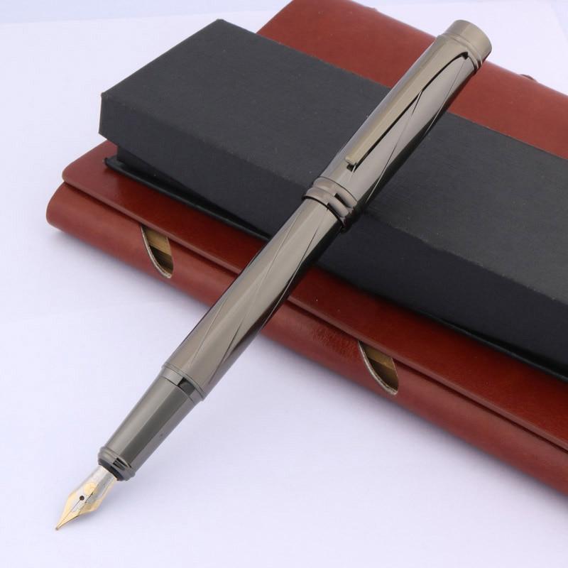 Office Iraurita Pen Metal Gun Gray Standard Classic Medium Gift Fountain Pen