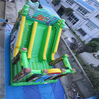 high quality commercial inflatable bouncer trampoline inflatable slide