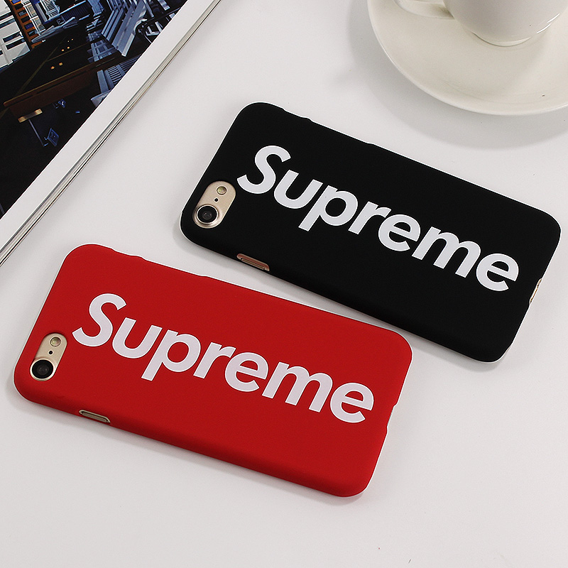 supreme fashion pc case for iphone 7 7 plus cover letter. Black Bedroom Furniture Sets. Home Design Ideas