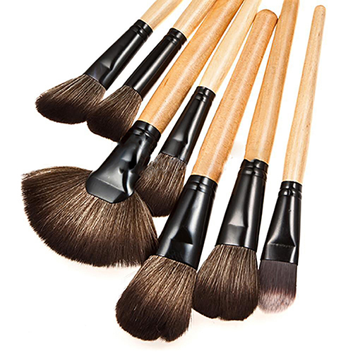 32 Pcs Cosméticos Sobrancelha Sombra Foundation Makeup Brushes Set + Bolsa de Couro Falso