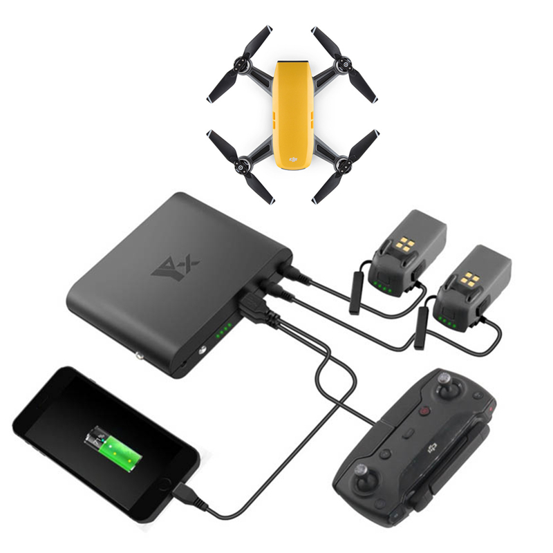 DJI SPARK Acccessories Multi-function 8000mah Portable USB Power Bank Charger for Battery Remote Control Mobile for DJI SPARK mobile power bank charger for dji mavic pro platinum multi function 8000mah portable usb mobile power for battery remote control
