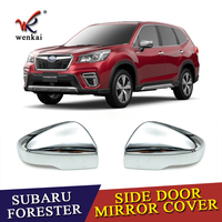 Chrome Side Rearview Mirror Cover For Subaru Forester SK 2018 2019 Car Styling Decoration Covers Accessories