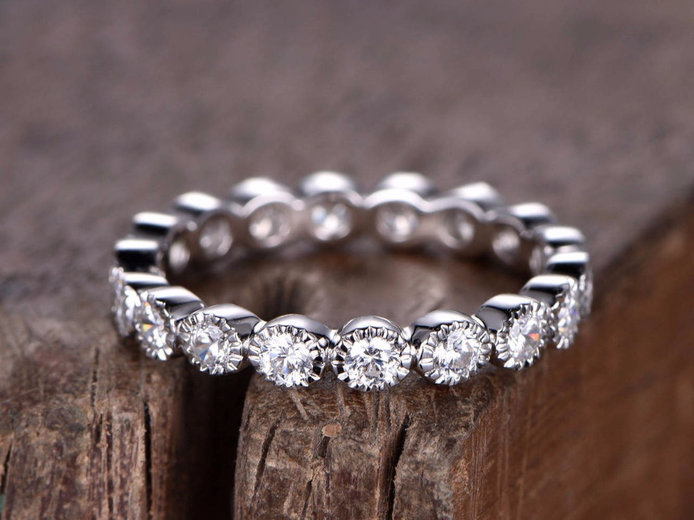 FULL eternity ring 925 sterling silver wedding band White gold plated anniversary ring Art deco antique stacking matching band double pen 6 wax tip pot dental lab dental lab electric thin waxer carving knife machine