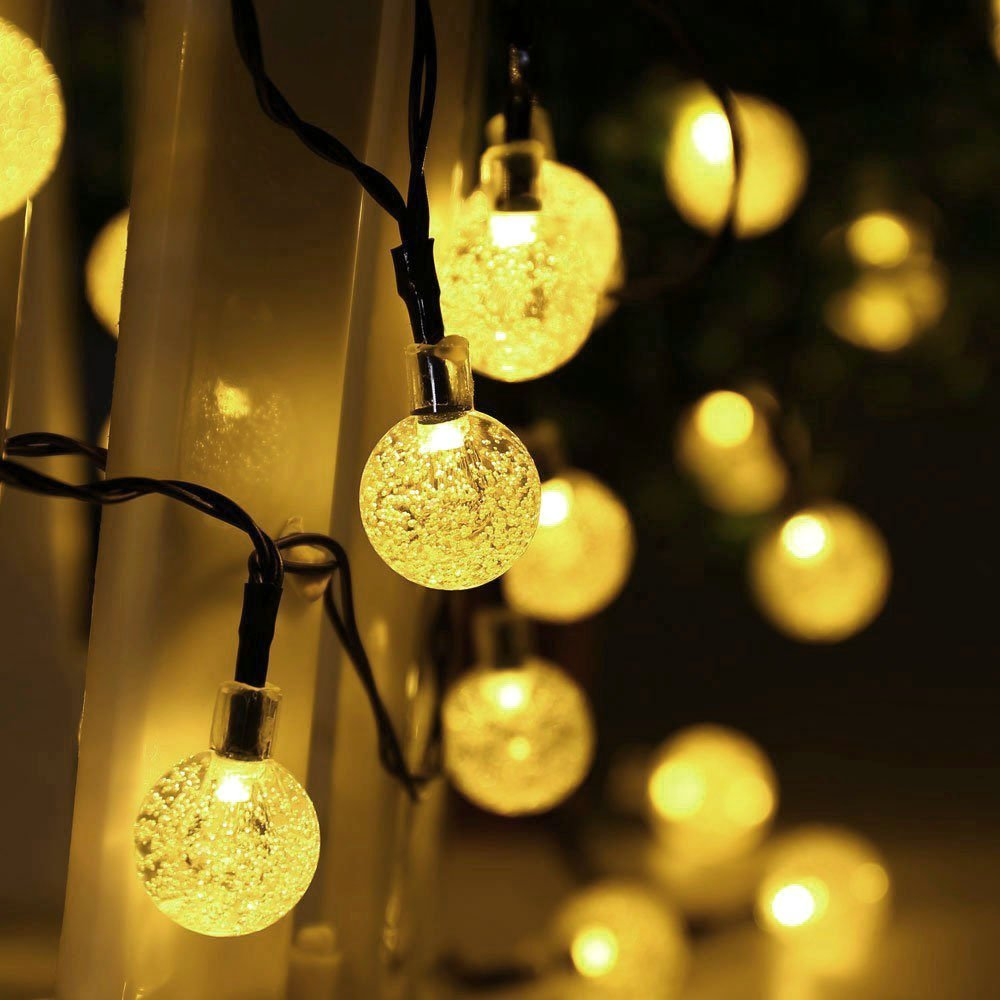 Aliexpress.com : Buy HOT 30 LED LederTEK Solar Outdoor String Lights 20ft  30 LED Warm White Crystal Ball Solar Powered Globe Fairy Lights For Outdoor  From ...