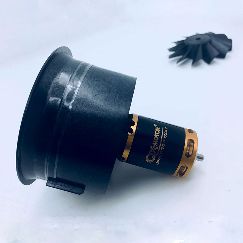 QX-MOTOR Brand New DIY Drone 64mm EDF Set 2822 3500KV Motor with 12 Blades Duct Fan for RC Airplane Parts Wholesale free shipping freewing new 70mm edf 12blades 4s e7215 about 1550g thrust 6s e7216 about 2150g thrust for edf airplane