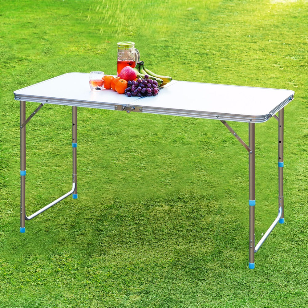 Finether Portable Aluminum Folding Outdoor Table Ultralight Height  Adjustable Table For Dining Picnic Camping BBQ Party Camping In Outdoor  Tables From ...