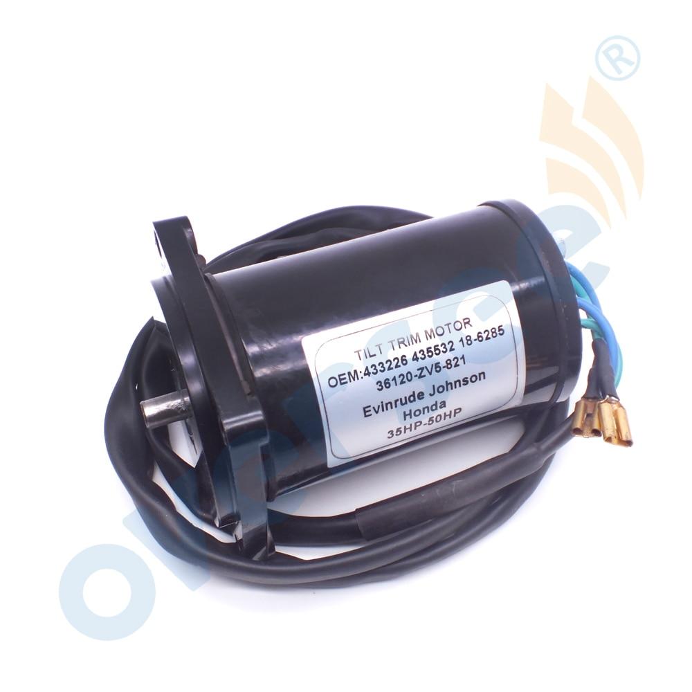 Boat Motor 36120-ZV5-821 Tilt Trim Motor For HONDA 35-50HP BF35AM BF45AM BF40AW BF50AW 433226 435532 18-6285
