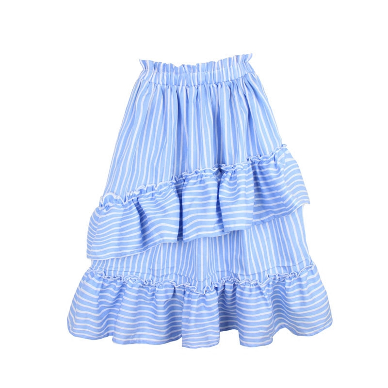 2-14T New Brand Kids Girl Summer Clothes 2018 Cotton Princess Wear Ruffle Skirts Striped Pleated Long Tutu Skirt Girl DQ082-14T New Brand Kids Girl Summer Clothes 2018 Cotton Princess Wear Ruffle Skirts Striped Pleated Long Tutu Skirt Girl DQ08
