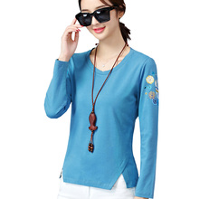 Shintimes 2018 Korean Fashion Autumn Ladies Tops Casual Women Blouse Print Long Sleeve Womens Top And Blouses Clothing