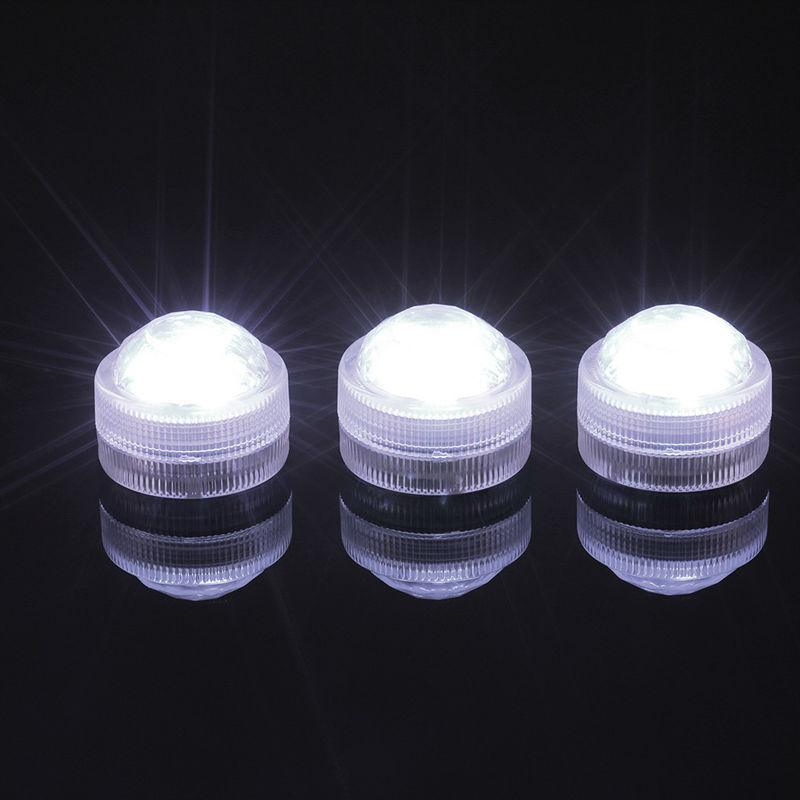 10pcs 3528SMD Led Tea Light Remote Controlled Floralyte Submersible Vase Tealight Candle Lamp 3led Wedding Party Decorative