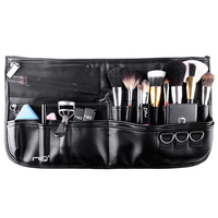 1pcs Pro Empty Makeup Case Top Class Storage High Quality Brown PU Leather Super Soft For