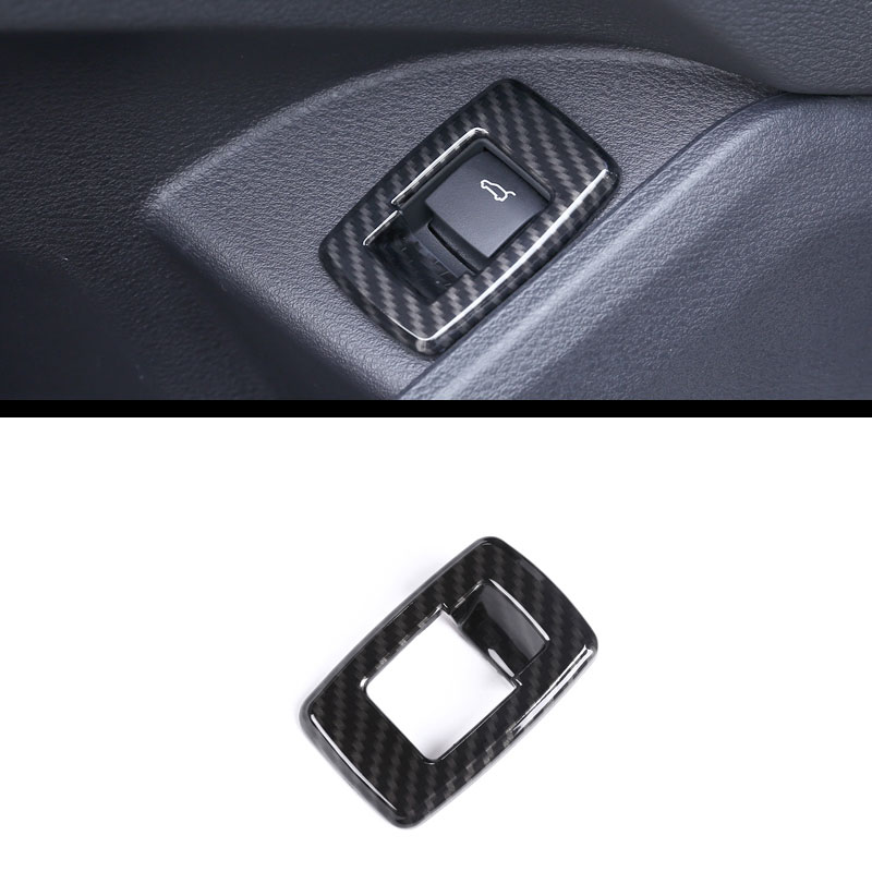 Carbon fiber For BMW X1 F48 20i 25i 25le 2016-18 ABS Chrome Interior Tail Door Swtich Frame Button Cover for 2 Series F45 F46