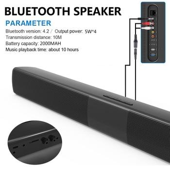 20W Bluetooth Speaker Subwoofer Home Theater Soundbar Super Bass Portable Wireless Remote Control Computer TV Speakers Mic FM subwoofer
