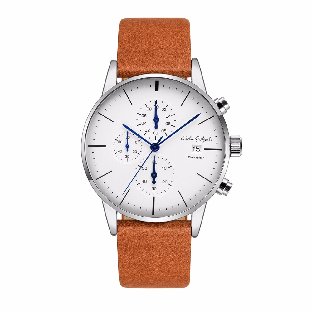 Adam Gallagher Fashion&Casual Men Stainless Steel Analog Quartz Wrist Watch with 30m Waterproof