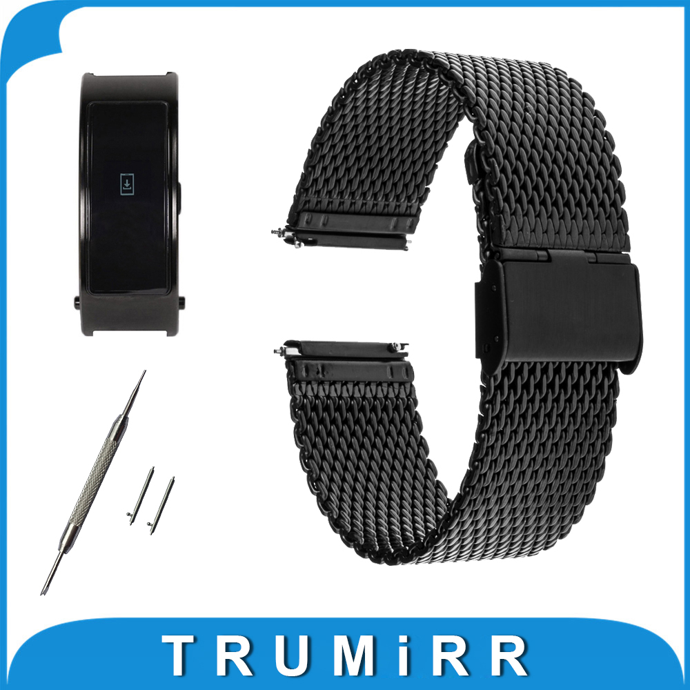 16mm Milanese Watch Band + Quick Release Pin for Huawei Talkband B3 Women's Watchband Stainless Steel Strap Wrist Belt Bracelet replacement genuine leather wrist watchband strap for huawei talkband b3 watch