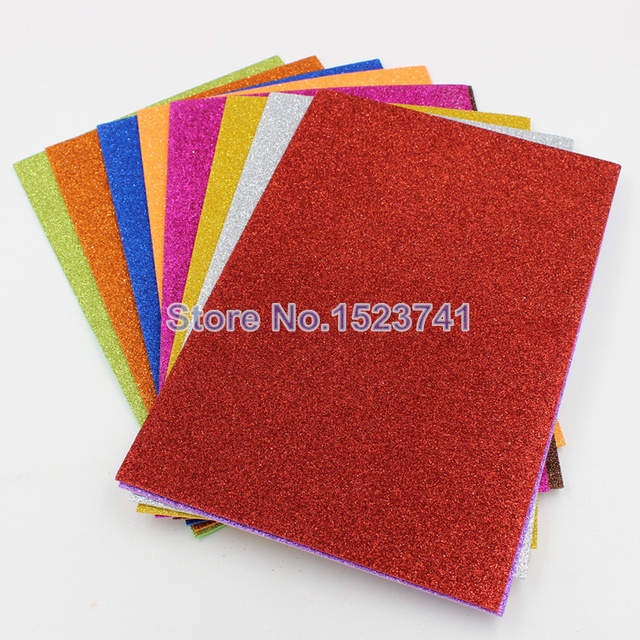 10pcs A4 Glitter Crafts Paper For Christmas Decoration Diy Gift