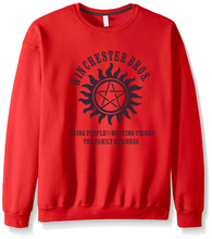 Supernatural Winchester Bros Long Sleeve Sweatshirt
