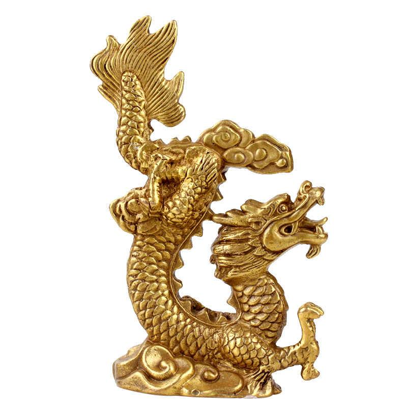 Otworzyć światło, jeździć na chmury smok, ozdobne wyposażenie domu, miedź chiński posąg smoka, rzemiosło, prezent biznesowy, figurka