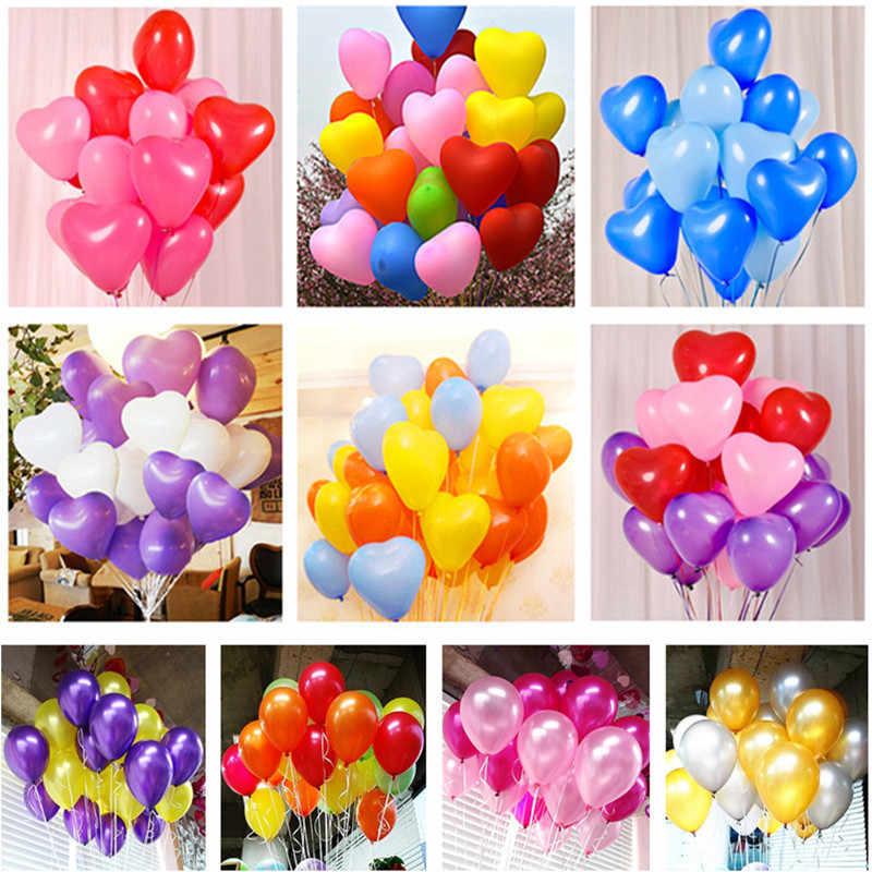 5pcs Branco Balões de Látex Coração Primeira Festa de Aniversário Da Menina do Menino Do Bebê Chuveiro Favores E Presentes de Casamento Decoração de Balões de Ar bolas