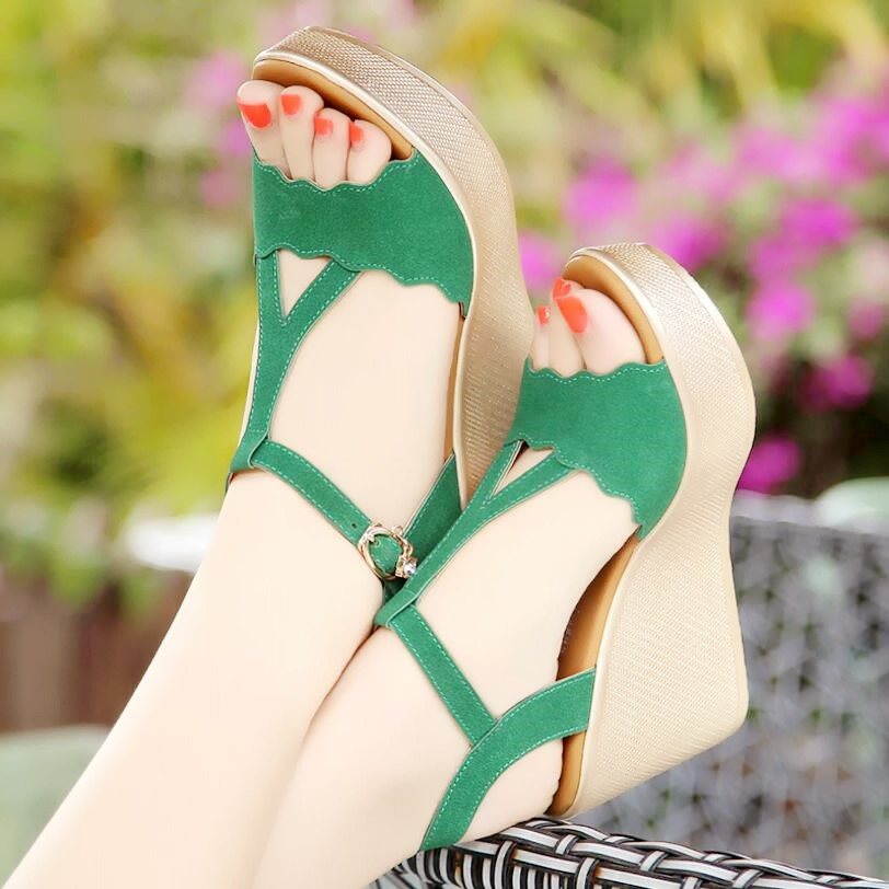 D&Henlu Shoes Women Sandals Platform High Heels Sandals Women Summer Shoes Ladies Sandal Heels Wedge Open Toe sandalia plataform