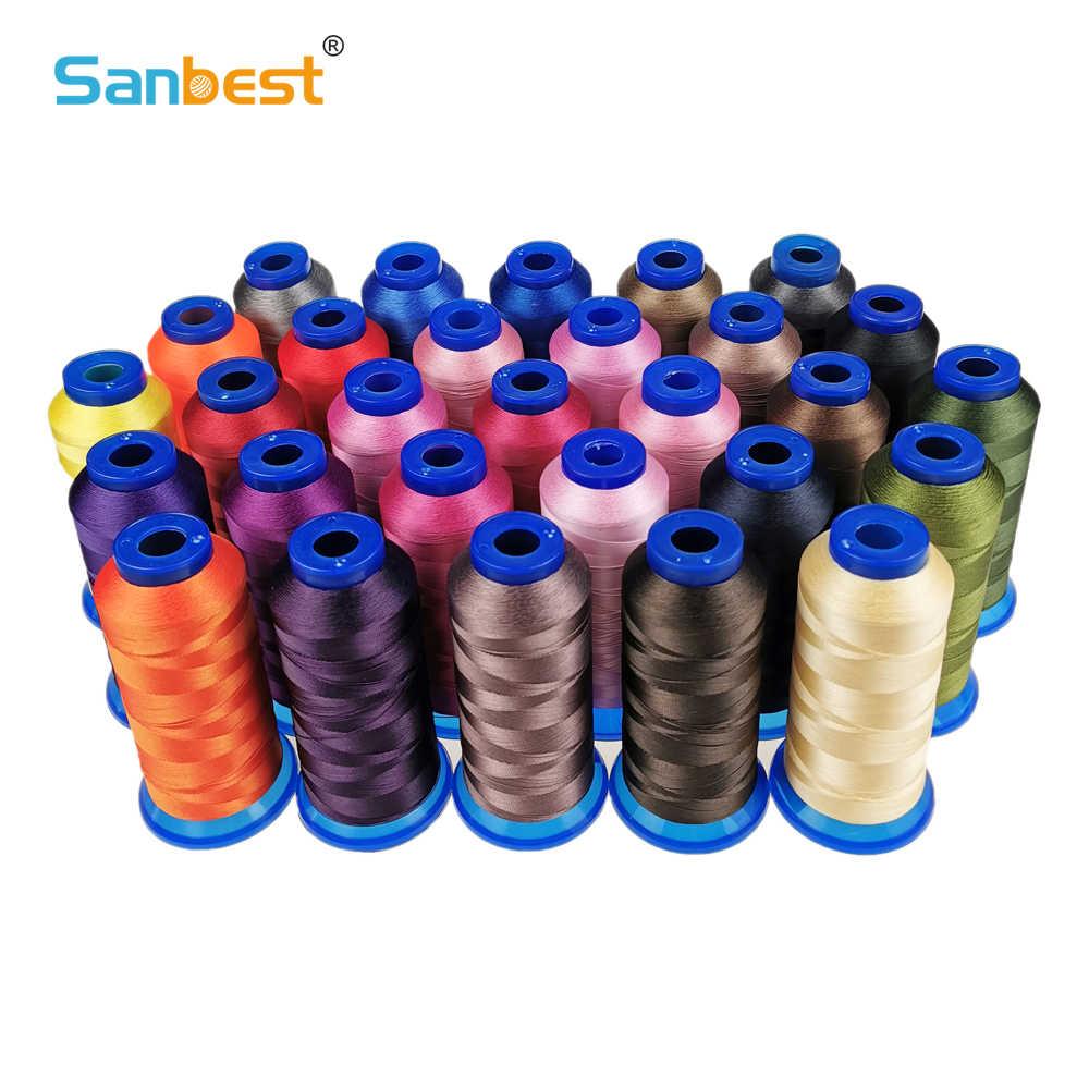Sanbest 高強力ポリエステルミシン糸 150D/3 210D/3 420D/3 高耐久性のあるジーンズキャンバス革ソファ靴 TH00056