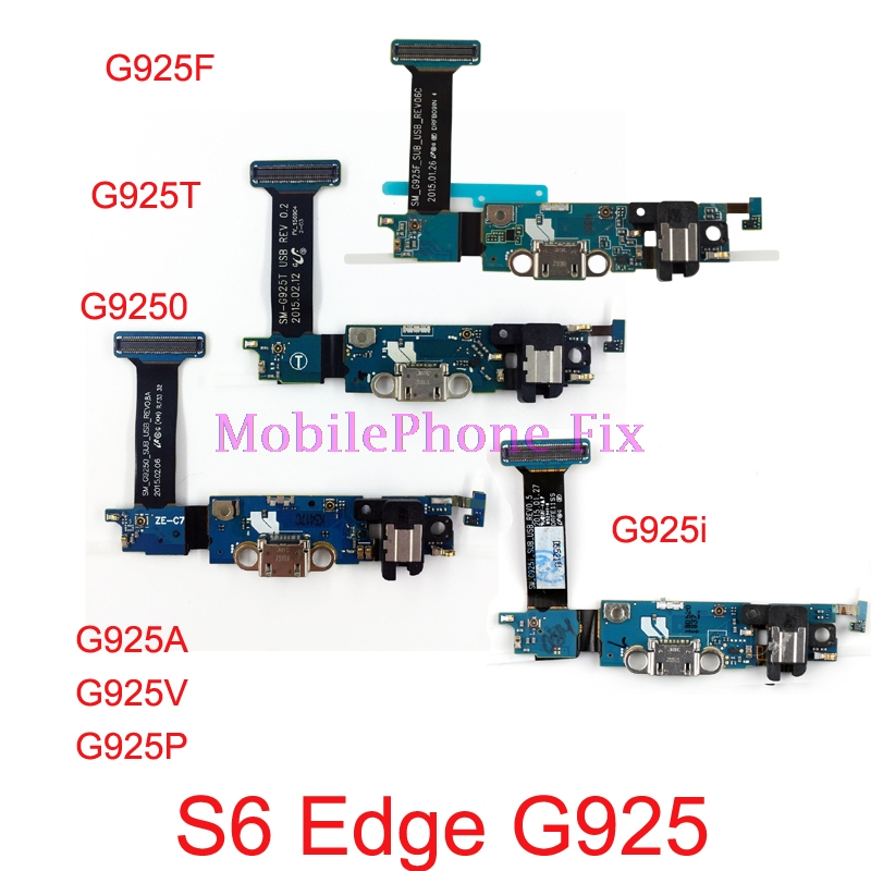 USB Charging Port Flex Cable For Samsung Galaxy S6 Edge G9250 G925F G925A T V P I USB Charger Dock Connector Flex Cable Parts in Mobile Phone Flex Cables from Cellphones Telecommunications
