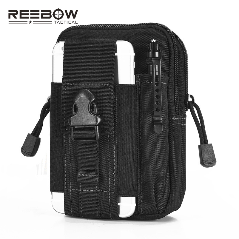 REEBOW TACTICAL Outdoor Sports Waist Bag Utility Memburu Running Gym Joggyin Airsoft MOLLE EDC Pack Tentera Berbasikal Telefon Pouch