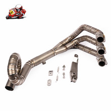 Motorcycle Exhaust Middle pipe for yamaha FZ-09 MT-09 mt 09 stainless steel without exhaust slip on full system link pipe motorcycle exhaust modified front pipe muffler full system slip on for yamaha fz 07 mt 07 fz 07 mt 07 2014 2017 xsr700 2016 2017