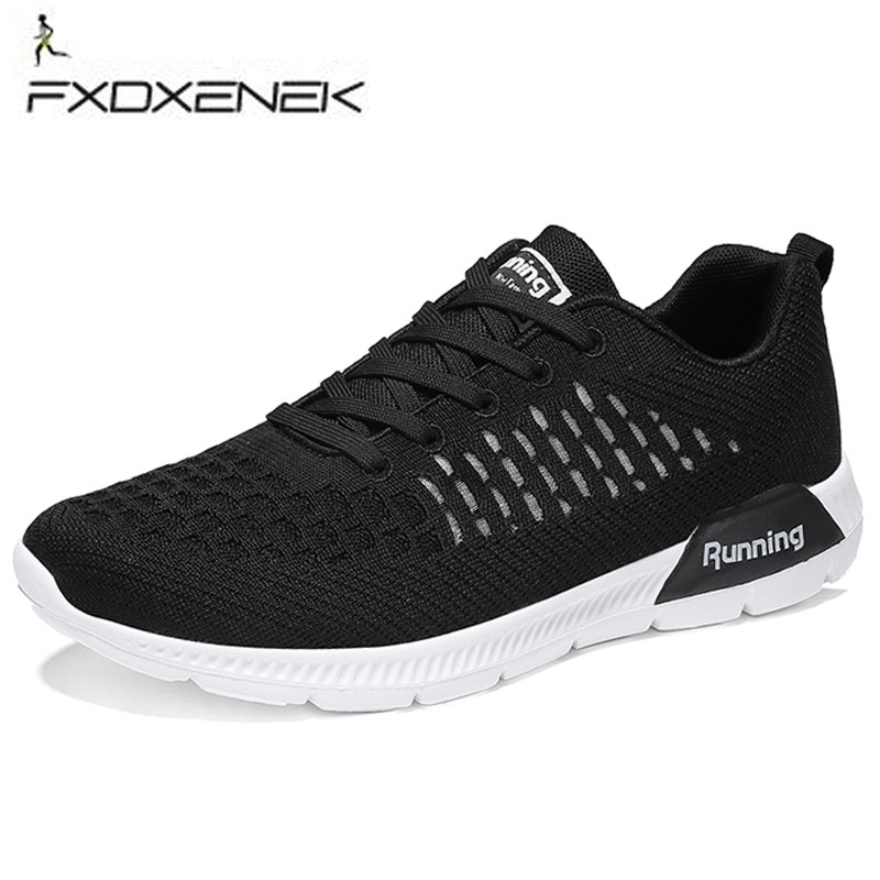 FXDXENEK Men Running Shoes Women Weave Breathable Air Mesh Men Sneakers Light Athletic Outdoor Couple Walking shoes Trainers