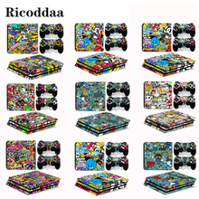 Removable Full Body Skin For PS4 Pro Console And Controllers Protective Skin Stickers For Sony Playstation 4 Pro Game Accessory