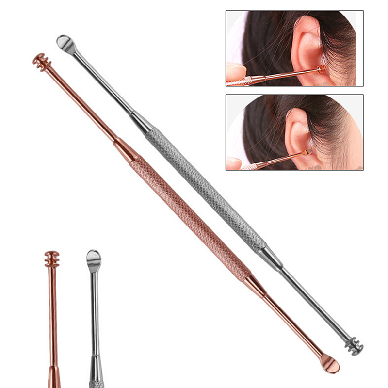2Pcs/set New Come Done Extractor Stainless Needles Antibacterial Acne Cleansing Cleaning Removal Ear Care Tools Ear Syringe