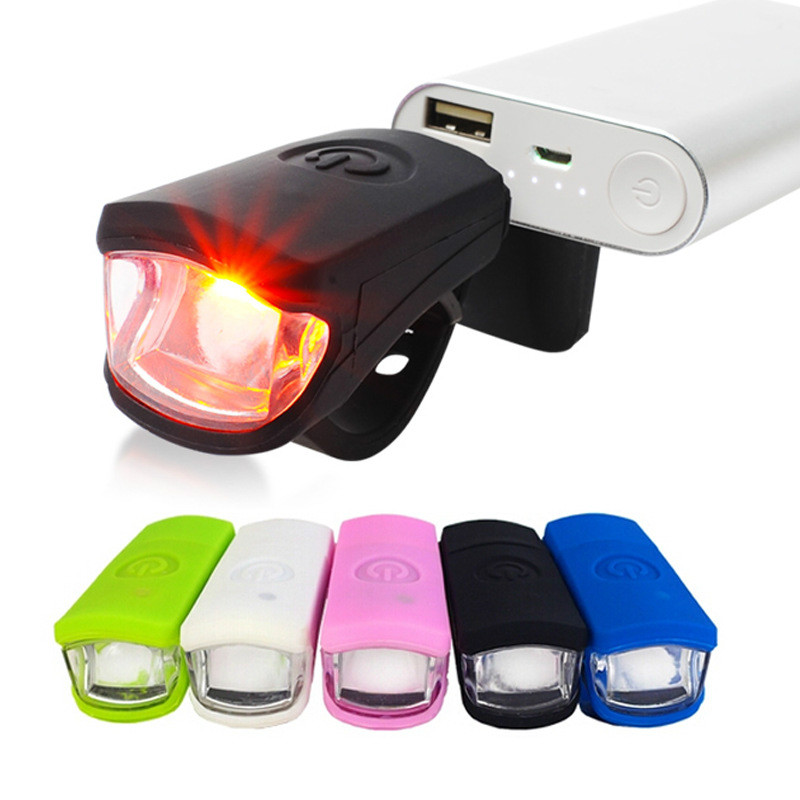 Usb Bike Light Rechargeable Silicone Front Bike Lights