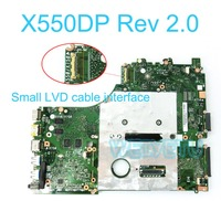 X550DP Small LCD cable interface Mainboard 2G 216 0841009 For ASUS X550DP X750DP X550D K550D K550DP Laptop Motherboard REV 2. 0