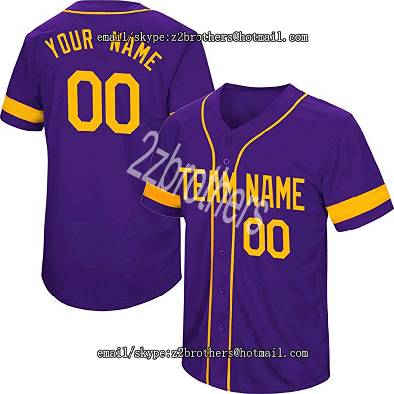 High School College Custom Baseball Jersey for Men Women Youth Kid Button Down Embroidered Name Number Design Your Own Team Logo