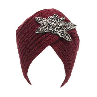 Winter Warm Crochet Caps Braided Turban Headdress Female Cap Winter Women Hats Knitting Wool Knit Hat