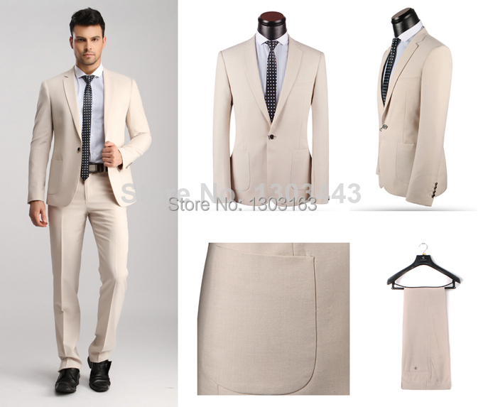 2016 Nueva Marca De Los Hombres de Los Trajes Trajes de Negocios Casuales Diseñado Slim Fit
