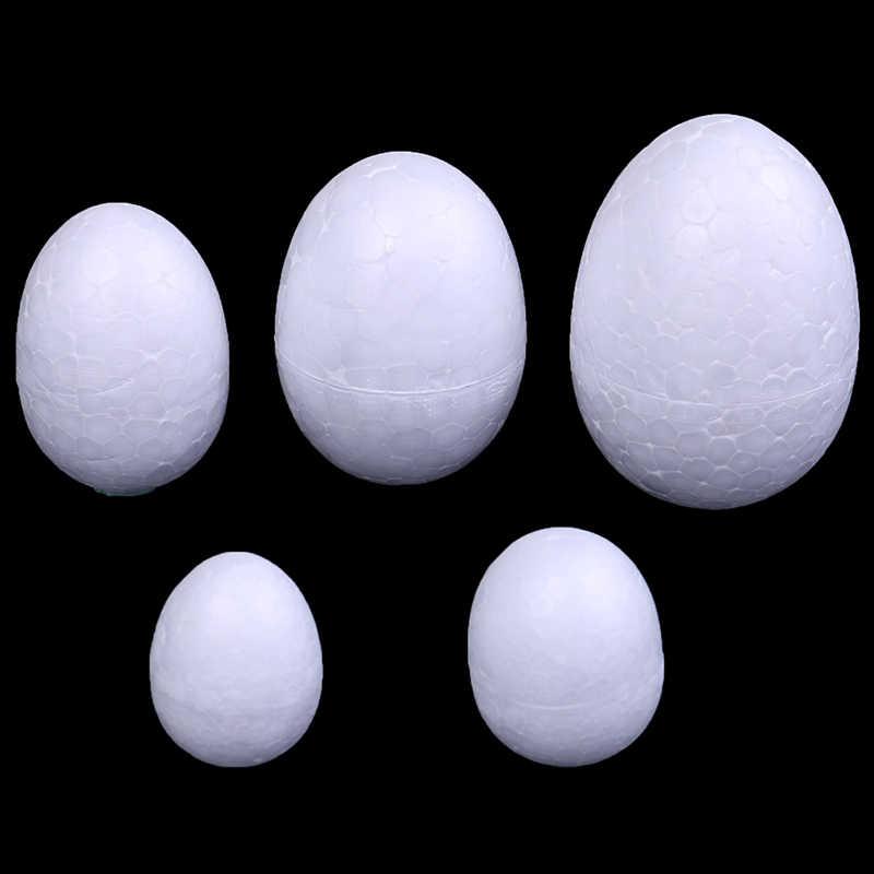 10 unids/set 3-7cm modelado de poliestireno espuma de poliestireno Bola de huevo blanco artesanía para DIY Navidad o decoración del día de Pascua