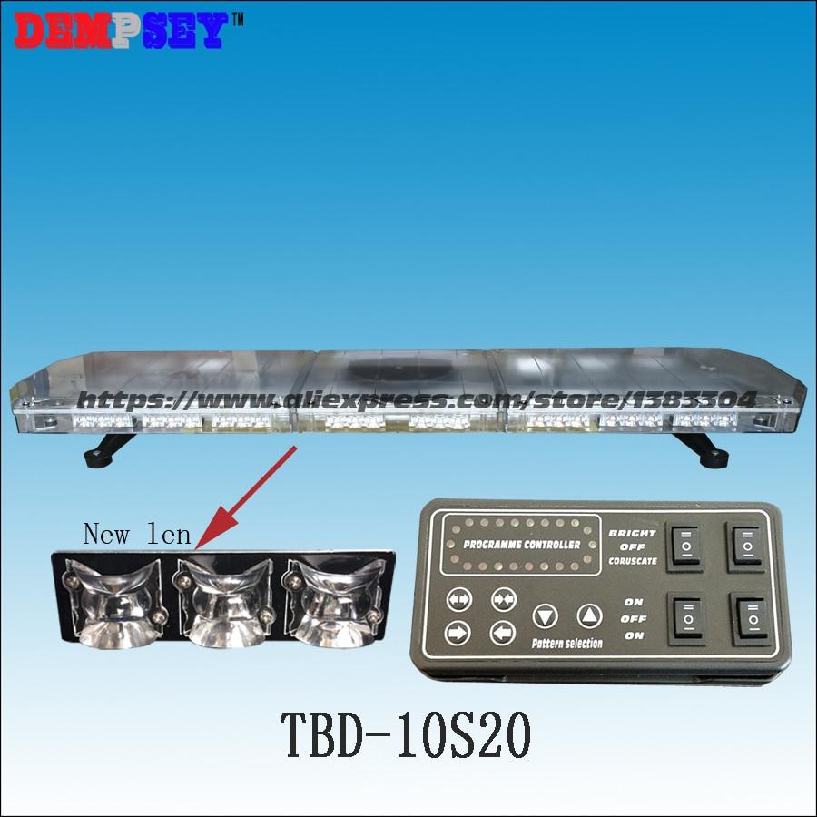 TBD-10S20 LED Emergency Warning Lightbar,New Len,fire/police for car,DC12/24V Roof strobe Red/blue/amber/white warning lightbar
