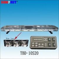 TBD 10S20 LED Emergency Warning Lightbar,New Len,fire/police for car,DC12/24V Roof strobe Red/blue/amber/white warning lightbar