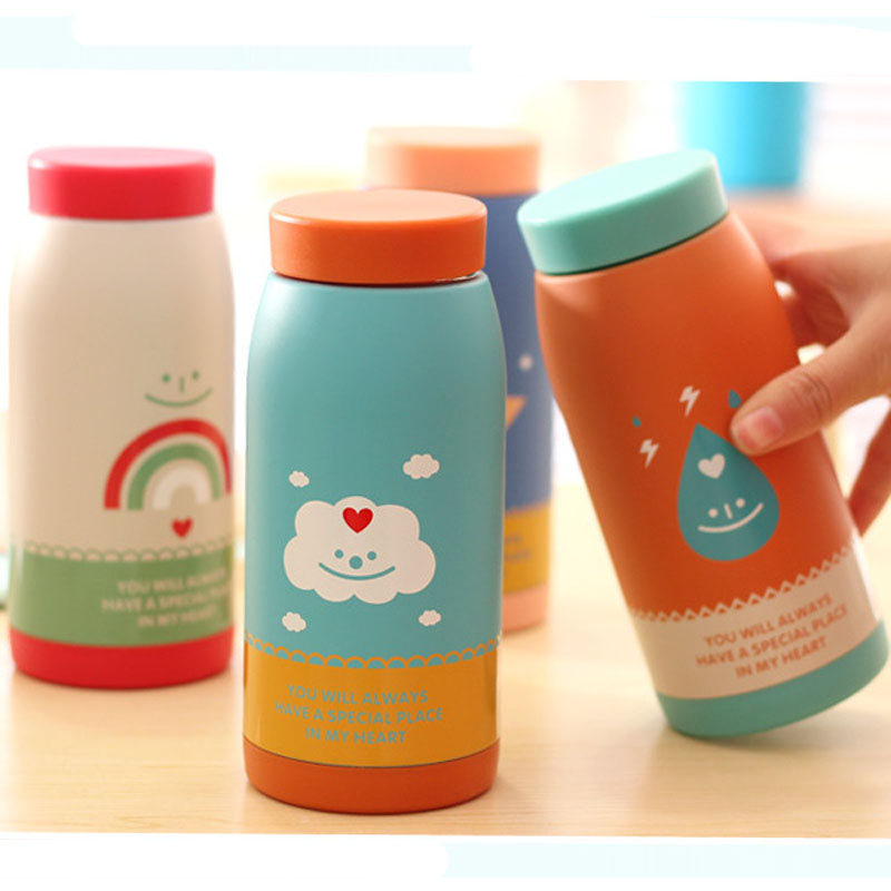 cartoon creative vacuum thermos cup bottle childrens termos kids garrafa termica inox agua 500ml 350ml termo coffe Mug tumbler Термос