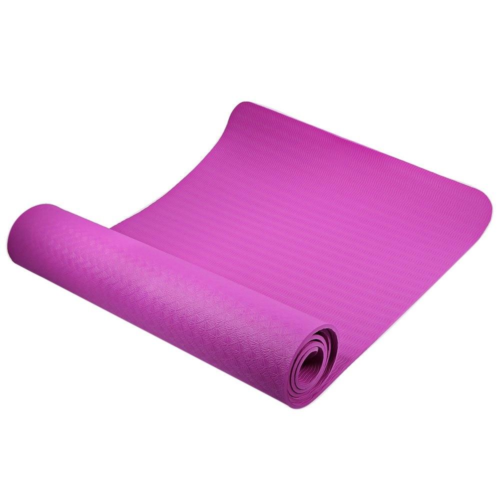 Aliexpress Com Buy 6 Colors 183 61cm Tpe Yoga Mat 6mm