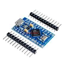 Robosimples robot】novo pro micro atmega32u4 5v/16mhz módulo com 2 linha pino encabeçamento para leonardo em estoque