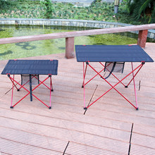 Outdoor Table Portable Foldable Camping Furniture Computer Tables Picnic Size S L 6061 Al Light Color Anti Slip Folding Desk(China)