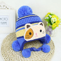 2016 New Baby Winter Hats Crochet Kitted Baby Hat For Boys Girls Children Cap Lovely Cat Beanies 0-2Y Baby Hat