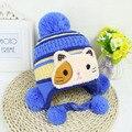 Nuevos 2016 Sombreros Del Bebé de Punto Bebé Sombrero de Invierno Cálido Cap Silbó Beanie Niño Niños Niñas Sombrero Gorrito de Bebé gorro bebes 0-3Y