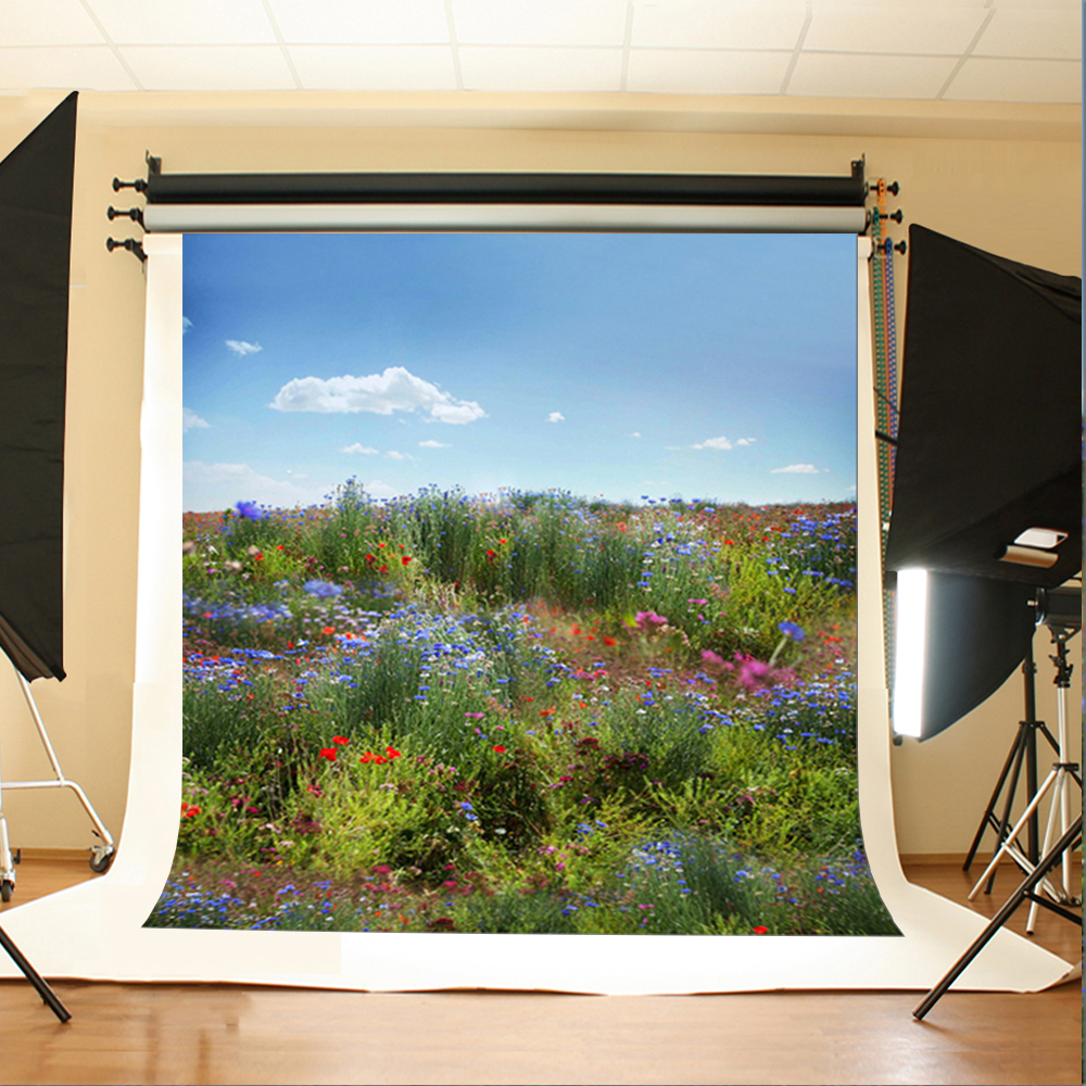 Wedding Photography Backdrops Blue Sky Clouds Computer Printing Background Blue Flowers and Grass Backgrounds for Photography 5pcs lot netherlands dutch keyboard for macbook pro 13 a1278 netherlands dutch keyboard mc700 mc724 md101 md102