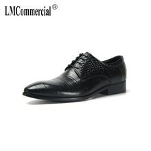 business shoes men Genuine Leather Shoes Men Dress autumn winter British retro cowhide spring