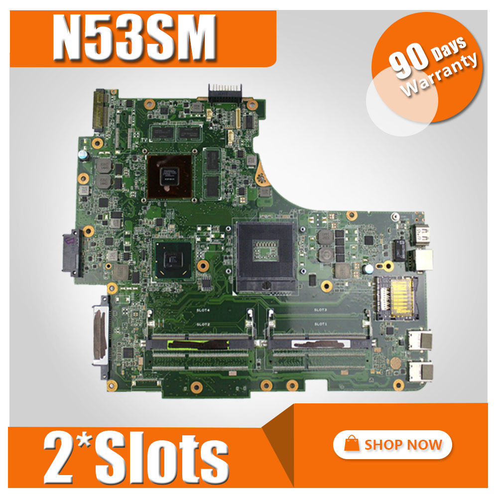 N53SM Motherboard 2*Slots For ASUS N53S N53SV N53SN N53SM laptop Motherboard N53SM Mainboard N53SM Motherboard test 100% OK laptop motherboard n53sv n53sn for asus n53s n53sn n53sm with geforce gt550m 2g ddr3 4 ram solts rev2 0 2 2 tested ok