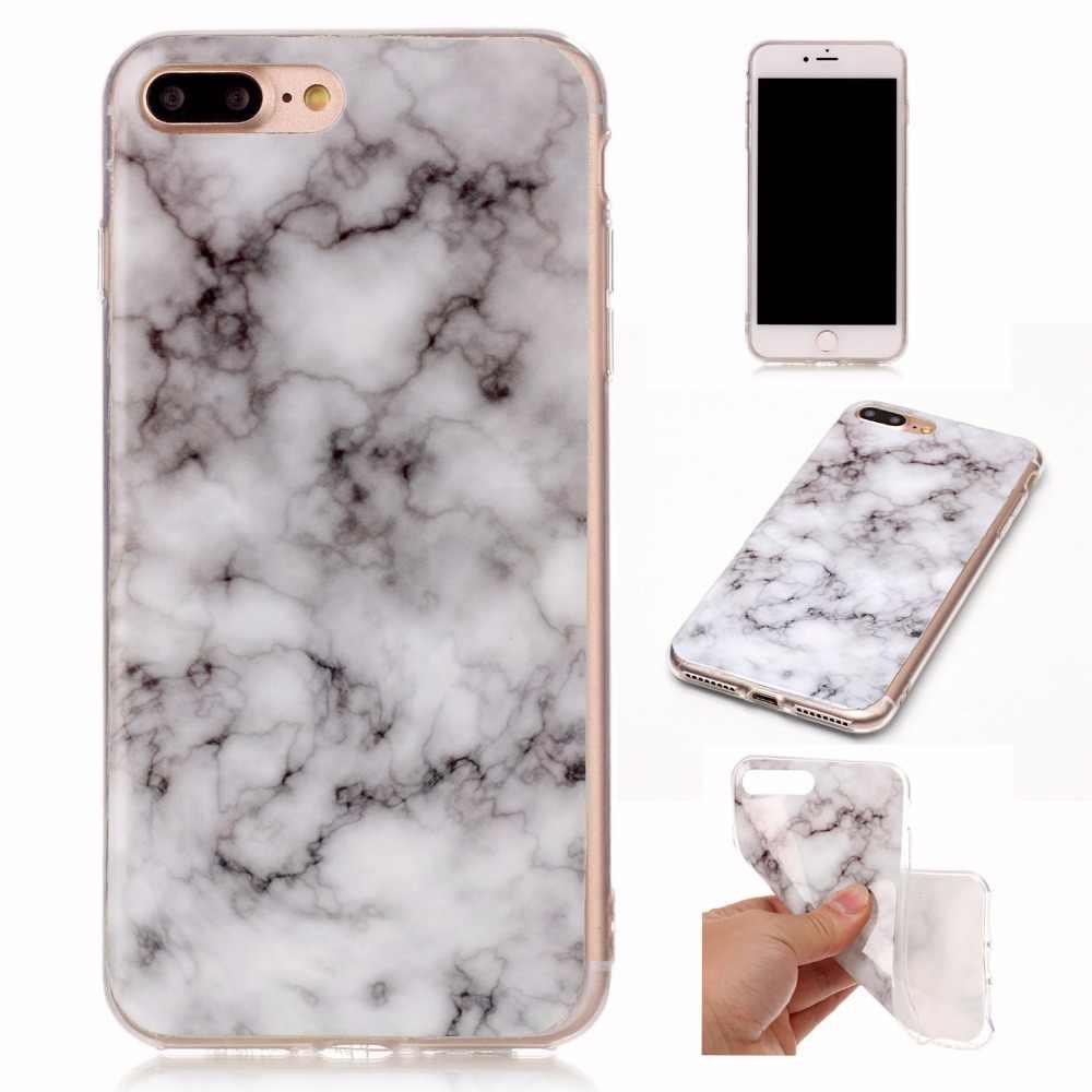 Fashion Marmer Ponsel Case untuk iPhone 4 4S 5 5C Se 6 6S 7 8 PLUS Case untuk IPod Touch 5/6 Tritone Lembut Silikon Kembali Menutupi IX Funda